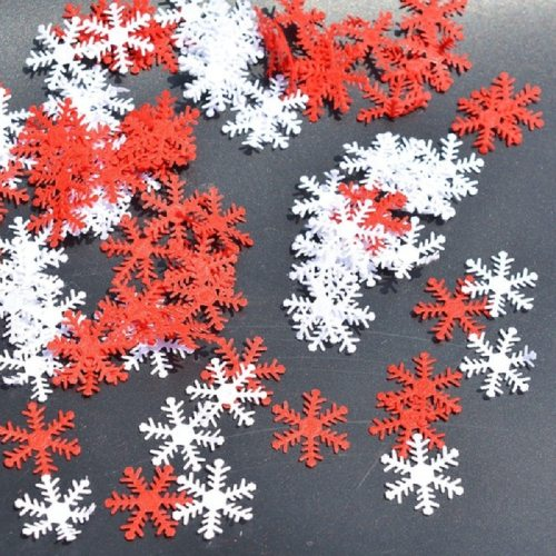 100pcs Snowflakes Christmas Tree/Window DIY Hanging Ornaments Non-woven Confetti Xmas Party Home Table Decoration Supplies