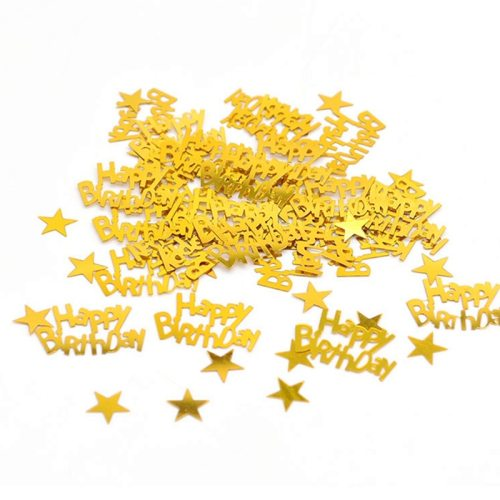 15g Gold Happy Birthay Confetti Happy Birthday Party Decoration Baby Shower Wedding Engagement Party Table Scatters Decorations