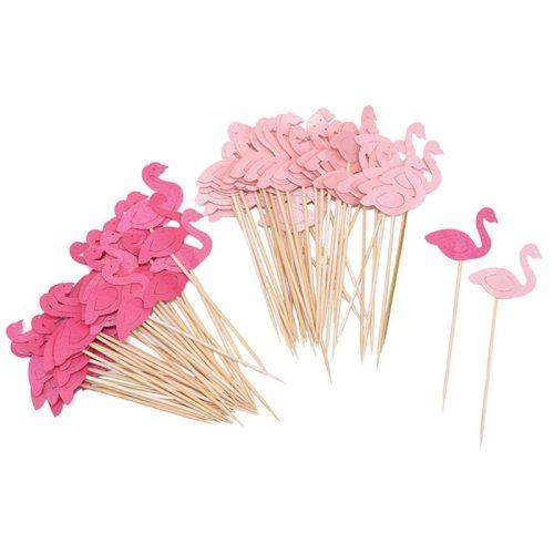 20Pcs Flamingo Cake Cupcake Topper Picks Cake Flags Kids Baby Shower Birthday Wedding Cake Decoration Flamingo Party Supplies