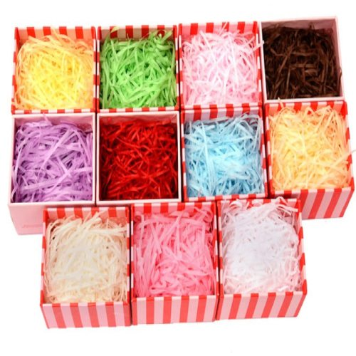 20g/bag Multicolor Shredded Crinkle Paper Raffia Craft Present/Candy Box/Gift Box Filling Material Wedding Party Decoration