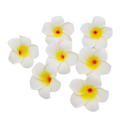 10Pcs/lot Plumeria Hawaiian PE Foam Frangipani Artificial Flower Headdress Flowers Egg Flowers Wedding Decoration Party Supplies