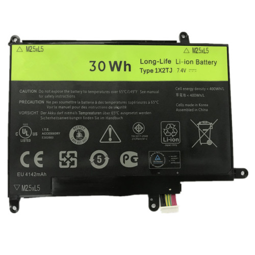7.4V 30wh better cells 1X2TJ Laptop Battery For DELL Latitude ST ST-LST01 06TYC2 Tablet