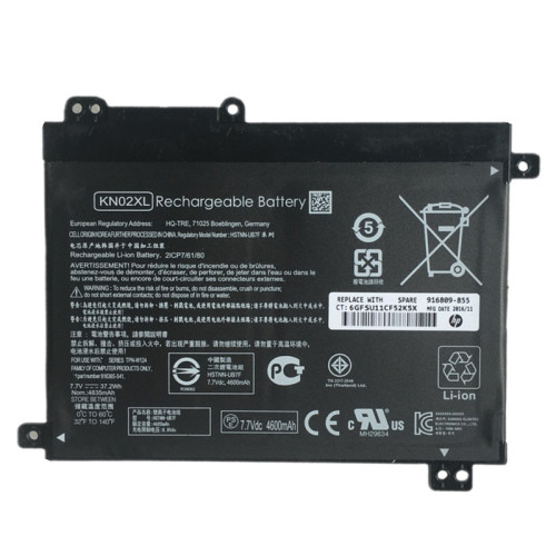 7.7V 37.2Wh better cells KN02XL Laptop Battery For HP HSTNN-LB7R HSTNN-UB7F 916809-855 916365-541 TPN-W124 916809-855