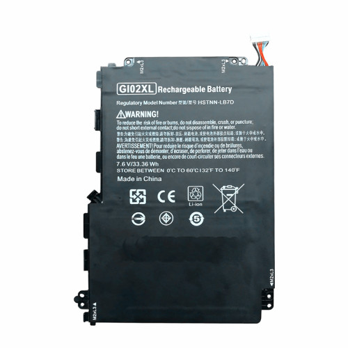 7.6V 4930mAh 33.6wh better cells GI02XL Laptop Battery For HP Pavilion X2 12 12-B000 HSTNN-LB7D 832489-421 833657-005 Tablet