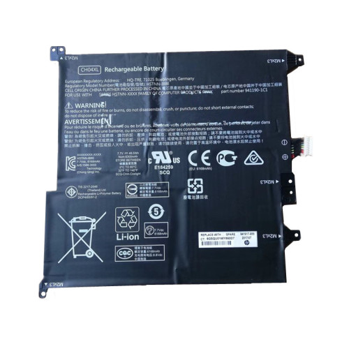 7.7V 48.5Wh 6300mAh better cells CH04XL Laptop Battery For HP HSTNN-IB8E 941190-1C1 941617-855 2ICP4/65/91-2 Series Tablet