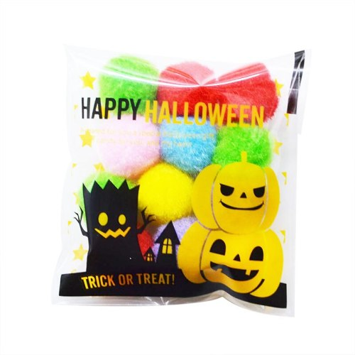 100Pcs Cute Cartoon Pumpkin Decoration Gifts Candy Bags Cookie Packaging Plastic Bags for Halloween Party decoration Supplies