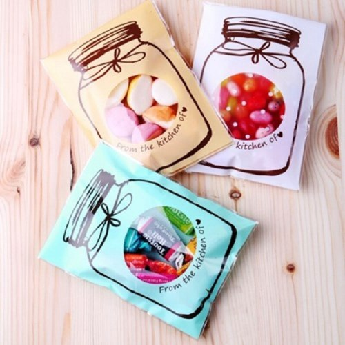100pcs/lot 10x13cm Cartoon Candy Cookie Packaging Bags Gift Bag Self Adhesive Plastic Bags Wedding Candy Bag Party Supplies