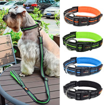 Reflective Puppy Dog Cat Collars Personalized Nylon Dog Collar Adjustable Pet Dogs Collars Pets Supplies For Medium Large Dogs