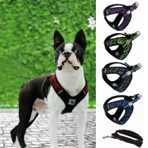 Pet Dog Outdoor Chest Vest Harness Pet Sport Haulage Rope Reflective Chest Vest Stability Structure Dog Harness Vests