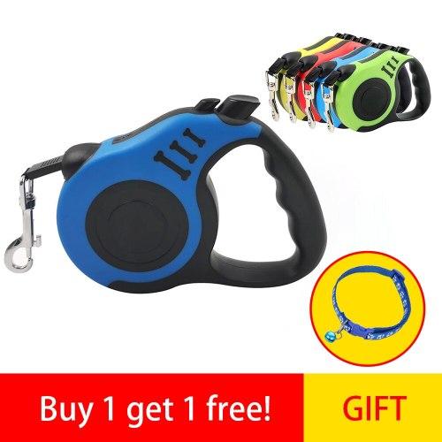 Outdoor Walking Dog Lead 3/5M Automatic Dog Leash Collar Set Reflective Pet Puppy Collars Pet Set Supplies