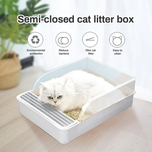 Pets Cleaning Tools Cat Litter Box Splash Resistance Semi-Enclosed Deodorant Cat Toilet Pan for Cats Small Dogs
