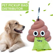Pet Poop Bag Cute Shit-shaped Dog Cat Waste Bags Portable Dog Poop Dispenser Holder Pets Cleaning Products For Outdoor
