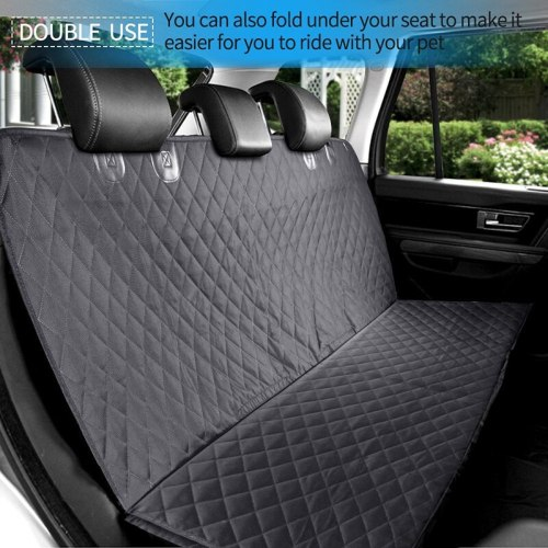 Luxury 600D Oxford PP Cottpn Pet Dog Cat Car Rear Bench Seat Anchors Waterproof Non-Slip Cover with Hammock U0957
