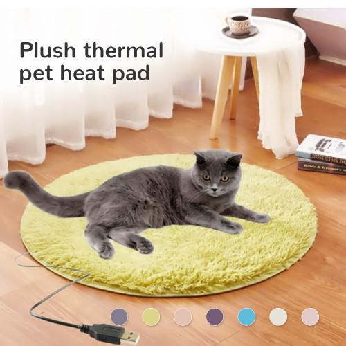 USB Pets Cat Dog Heater Mat Pad Bed Leak-proof Cat Dog Heating Pad Carpet Electric Heater Mat Bed Plush Blanket For Cats Dogs