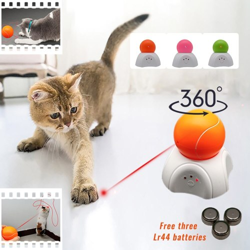 Funny Cat Interactive Exercise Training Toy Cat Automatic Electric Ball Toys Creative Pet LED Laser Rotate Ball Toy Pet Supplies