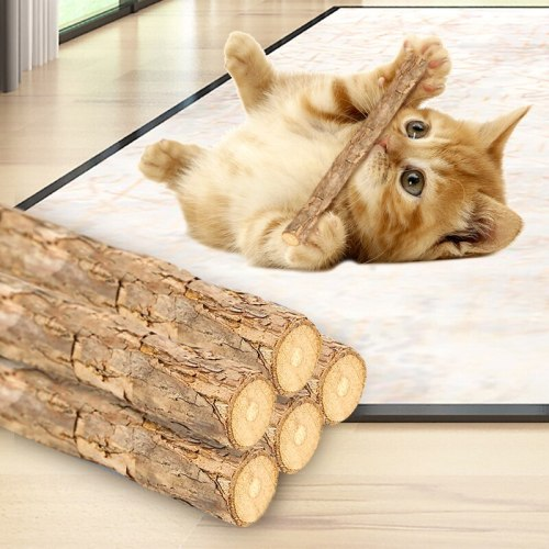 5pcs Wood Cat Toy Pet Molar Snacks Stick Cleaning Teeth Supplies For Pet Cat Kitten Funny Chew Toy Product For Cat
