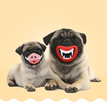 Halloween Dog Chew Toys Funny Cats Dogs Toys Cute Pig Tooth Decay Pattern Mask For Dogs Christmas Pet Party Decoration Masks