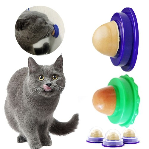 Cat Catnip Toy Licking Nutrition Gel Energy Ball Toy Pets Snacks Sugar Candy for Cats Kittens Increase Drinking Water Help Tool