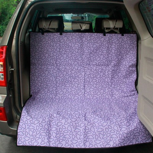 Oxford Waterproof Printing Pet Car Mat Dog Car Trunk Seat Cover Protector Care Dog Cat Transport Perro Cat Carrier