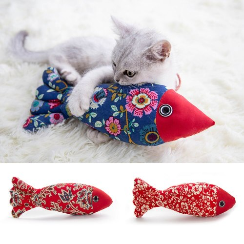 Cat Puzzle Toy Cat Toys Soft Plush 3D Fish Shape Chew Toy Pet Kitten Interactive Toys Cats Fish Pillow Doll Playing Toys
