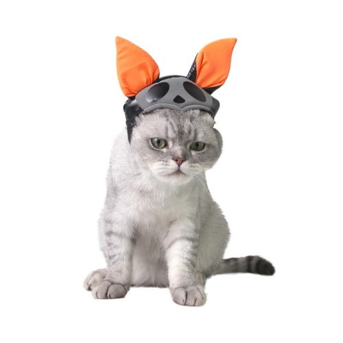 Pet Cat Cosplay Cap Clothing Costume Funny Halloween Party Decration For Kitten Cute Bat Folding Ear Cosplay Hat Pet Accessories
