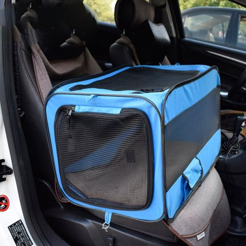 Pet Car Dog Transport Box Cage Dog Carriers Carrying For Small Dogs transportin perro hundebox auto bolso perro honden tassen