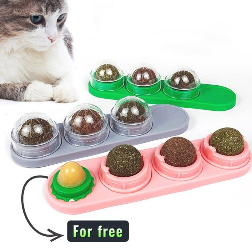 1/3/4pcs Cat Catnip Toys Cats Clean Teeth Safety Home Mint Cat Toy Edible Catnip Ball Toy Protect The Stomach Pet Toys