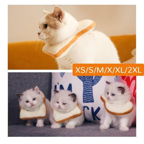 Halloween Dog Soft Bread Slice Collar Creative Cat Toast Scarf Pet Photo Prop Pet Dogs Cats Headgear Bandana Dog Cat Accessories