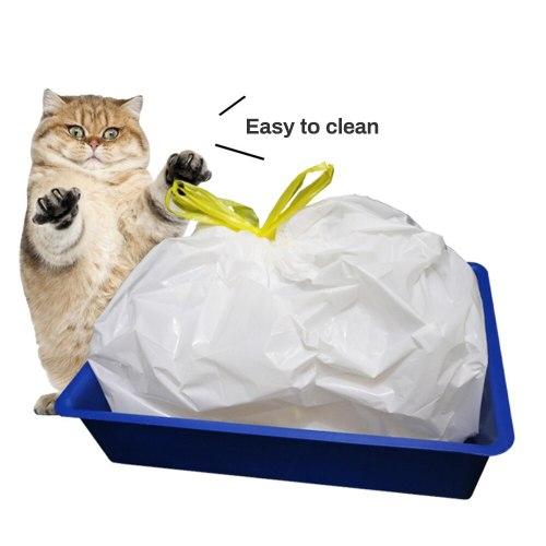 Pet Cat Litter Bag Cat Litter Pan Bags Cats Litter Box Mat Kitten Storage Bag Pets Cleaning Supplies for Cat Sand