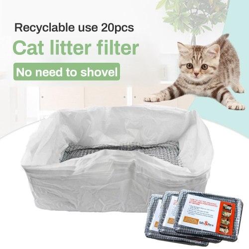 10 Pcs Reusable Cat Litter Liners Bag Cats Litter Shovel Elastic Litters Box Liners Cat Feces Filter Net Cats Cleaning Supplies