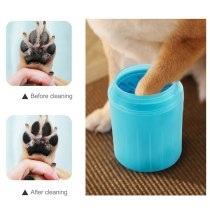 Pets Dog Cat Soft Plastic Washing Brush Paw Washer Pet Cats Dogs Foot Clean Cup Pet Accessories Dogs Cats Cleaning Tool