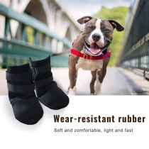 Breathable Dogs Boots Prevent Scratching Rubber Sole Front Feet Dog Paws Sleeves Antinjured Dog Paw Protect Care Shoes 2PCS