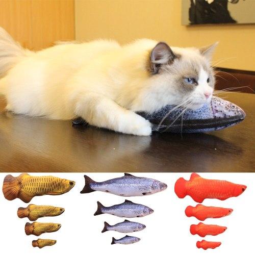 Pet Soft Plush Creative 3D Carp Fish Shape Cat Toy Gifts Catnip Fish Stuffed Pillow Doll Simulation Fish Playing Toy For Pet