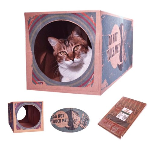 Foldable Cat Tunnel Paper Box Pet Supplies Funny Pet Play Tubes Cat House Cat Toy Dog Kitten Toys Puppy Play Tunnel Tubes