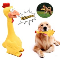 Pet Dogs Squeaking Toys for Dogs Teeth Cleaning Dogs Toy Molar Squeak Toys Cute Screaming Chicken Chewing Biting Squeak Toys