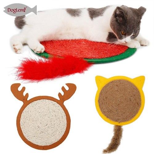 Cat Scratching Mat Toy For Cats Halloween Bat Shape Carpet Mat Toys Sisal Pad Cat Scratch Board Protector Furniture Pet Supplies