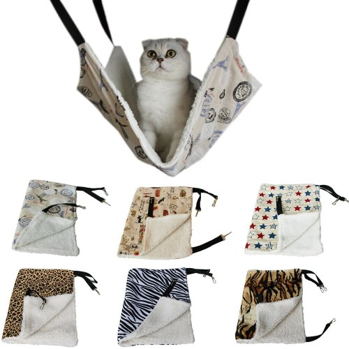 Cat Sleeping Bag House Double-sided Available Hanging Cat Hammock Warm Cats Bed Mat Pet Dog Cats Supplies
