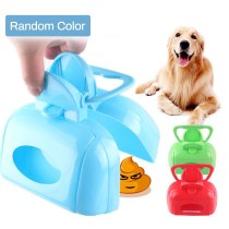 Portable Plastic Pet Pooper Dog Puppy Cat Scooper Waste Picker Dog Poop Scoop Clean Pick Up Animal Waste Pets Cleaning Tools