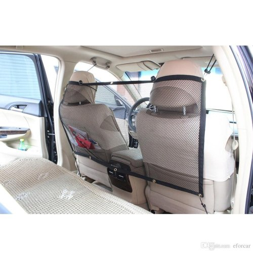 Dog Car Carrier Rear Seat Pet Fence Anti-collision Mesh Pet Auto Barrier Safety Isolation Net Pet Protection D1350