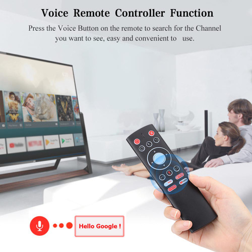Voice Control Remote Air Mouse 2.4G Wireless Control Mic Gyros IR Learning For Android TV BOX Google Netflix Youtube PK G10 G20S