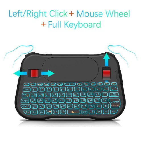 Backlight T18 Plus English Russian 2.4G Wireless Fly Air Mouse English Backlit Keyboard Touchpad Controller for Android