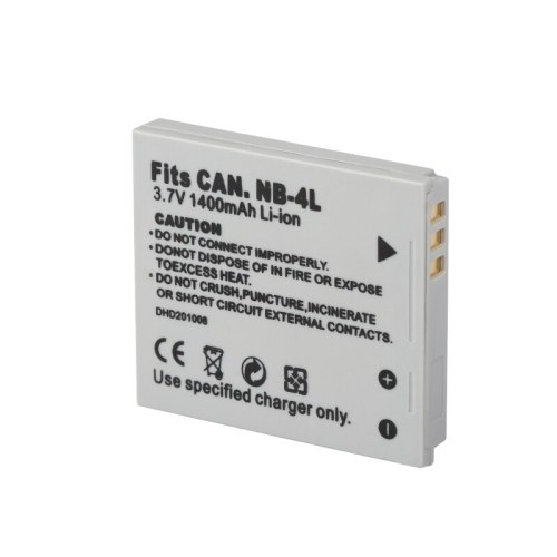 1pc NB-4L NB4L NB 4L Digital Camera Battery 3.7V 1400mAh Li-ion Battery Pack for Canon IXUS 30 40 50 55 60 65 70 75