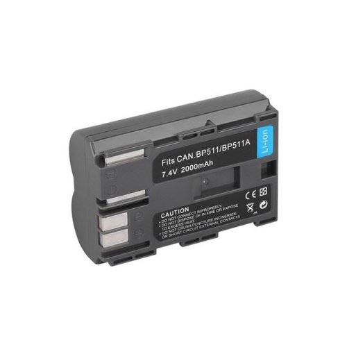 1pc BP-511A BP511 Digital Battery 2000mAh 7.4V Camera Batteries for Canon 20D 300D 30D 5D D30 D60 G1 G2 G3 G5 G6 BP-512