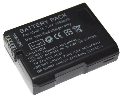 EN-EL14 EN-EL14A ENEL14 EN EL14 1500mAh Digital Rechargeable Camera Battery for Nikon D5300 D5200 D5100 D3200 D3100 D3300