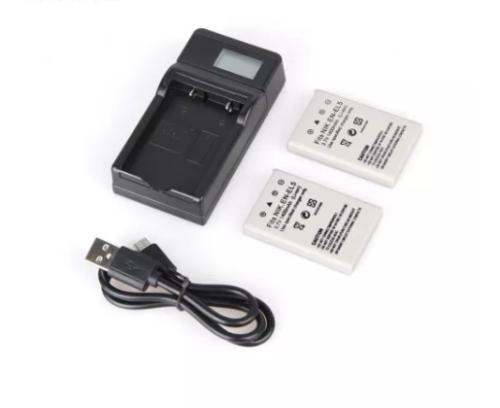 2pcs EN-EL5 EL EL5 ELEL5 Digital Camera Battery + USB LCD Display Charger for Nikon Coolpix P3 P4 P80 P90 P5100 3700