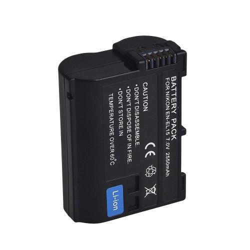 7.0V 2550mAh Decoded Camera Battery ENEL15 EN-EL15 for Nikon V1 D500 D750 D7100 D7000 D800E D800 D600 D600E D610 D810E
