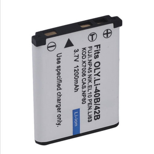 1pc 3.7V 1200mAh Li-42B EN-EL10 FNP-45 D-Li63 CNP-80 LI-40B Rechargeable Camera Battery for Nikon for OLYMPUS for FUJIFILM