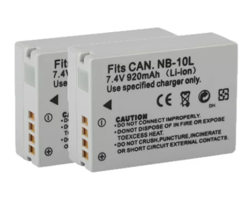 2pcs NB-10L NB10L NB 10L 920mAh Rechargeable Camera Battery for Canon G1X G15 G16 SX40HS SX50HS SX60HS SX40 SX50 HS