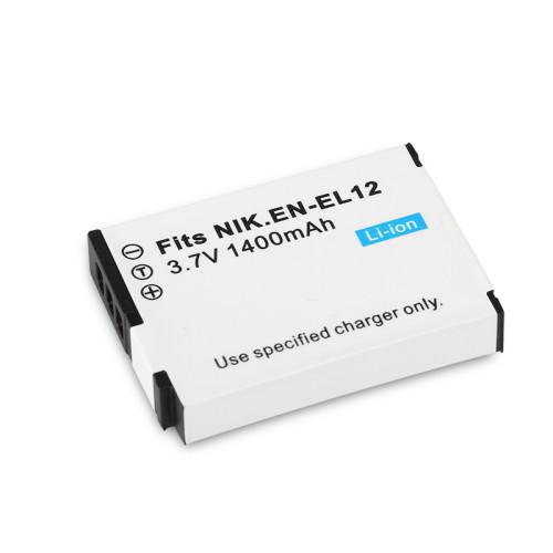 1400mAh 3.7V EN-EL12 EN EL12 ENEL12 Digital Camera Battery for Nikon Coolpix S610 S620 S630 S640 S70 S1000PJ