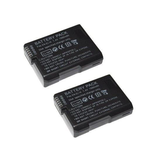 2pcs/lot EN-EL14 ENEL14 EN EL14 EN-EL14A 1500mAh Camera Battery for Nikon P7000 P7100 P7200 D3100 D3200 D5100 D5200